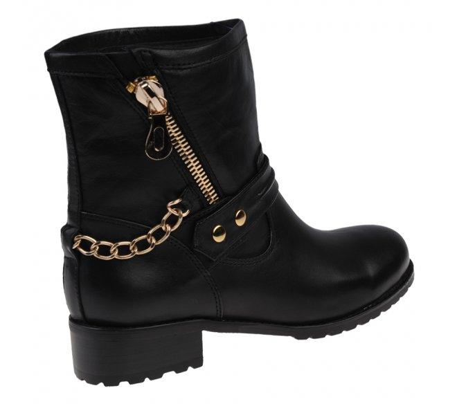 Boots femme - DI LAURO - Noir