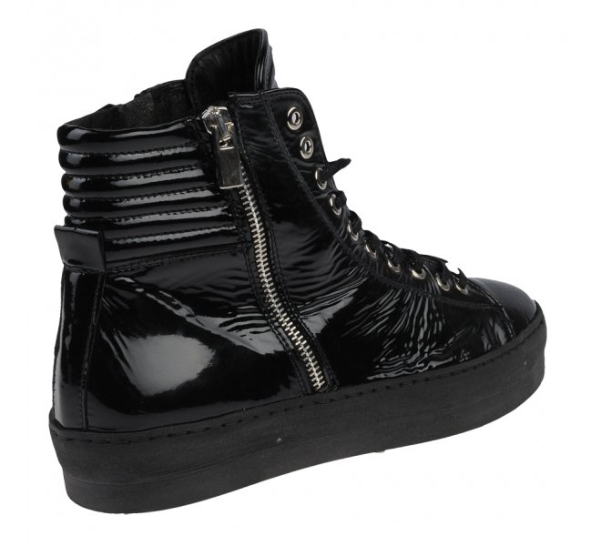 Baskets mode femme - LOUISA - Noir verni