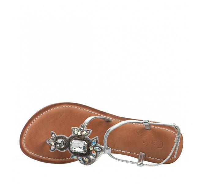 Nu pieds femme - CAYLA PAZ - Gris argent