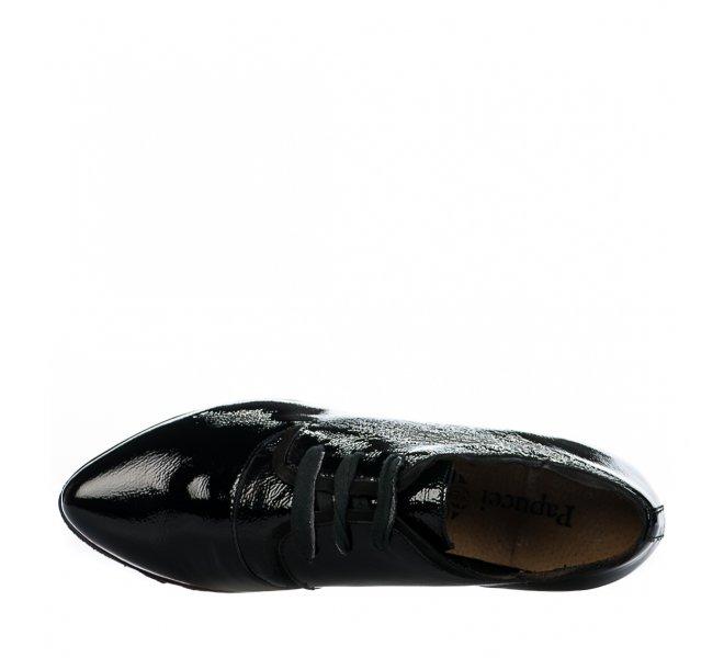 Chaussures à lacets femme - PAPUCEI - Noir verni