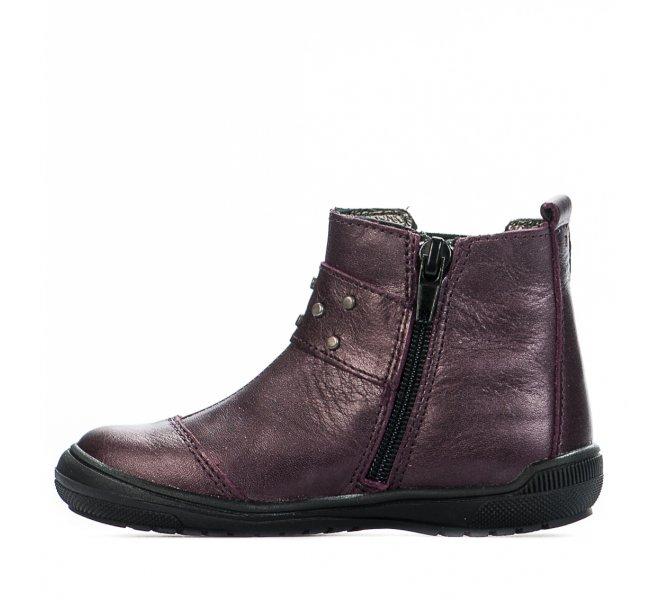 Boots fille - BOPY - Violet prune