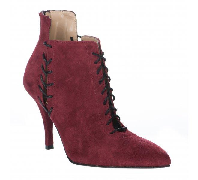Boots femme - STYME - Rouge bordeaux