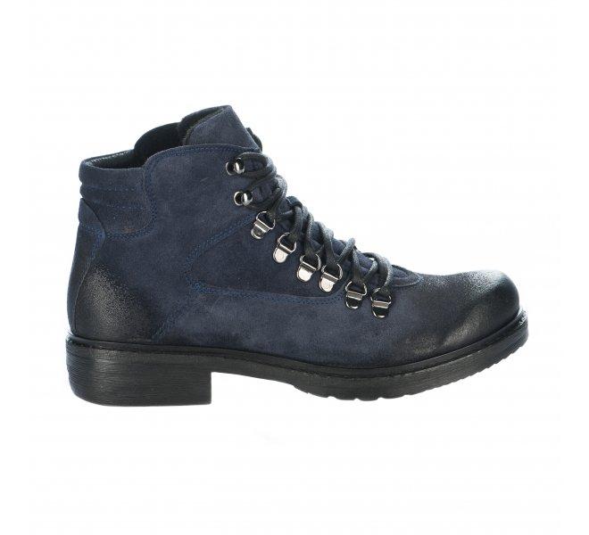 bas prix bfcc9 b99a4 Bottines femme - MANAS - Bleu marine