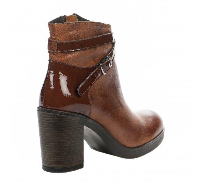 Boots femme - MIGLIO - Marron clair