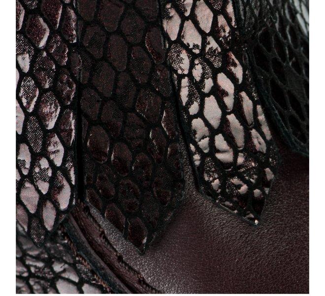 Boots femme - APPLE LOVE - Violet prune