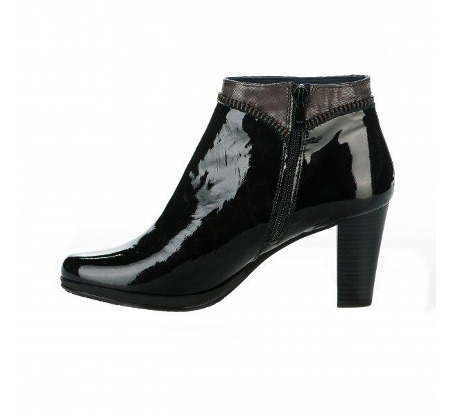 Boots femme - DORKING - Noir verni