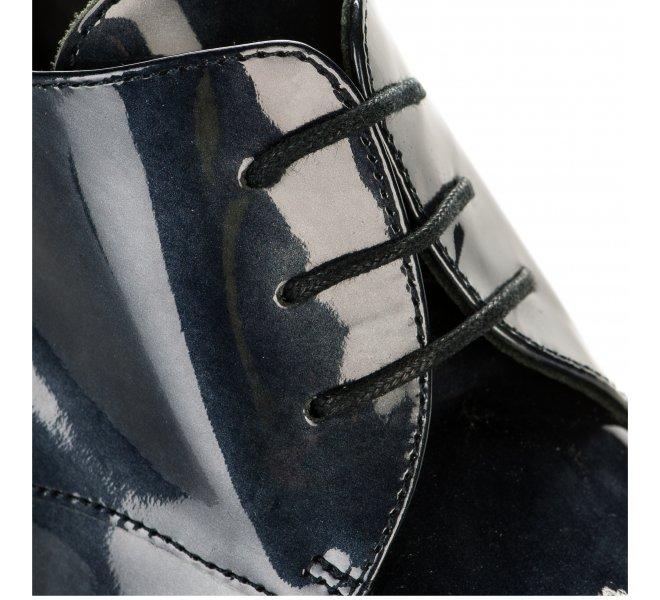 Chaussures à lacets femme - FRANCE MODE - Bleu gris