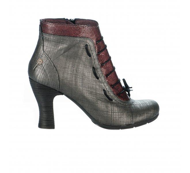 Boots femme - GOLD BUTTON - Gris