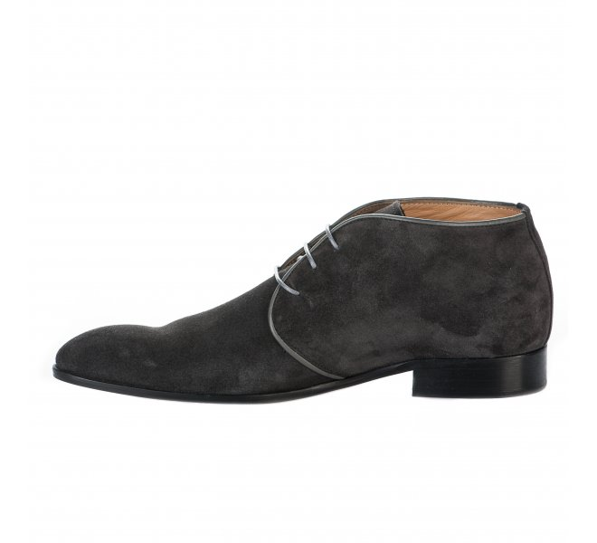 Chaussures à lacets homme - FIRST COLLECTIVE - Gris anthracite