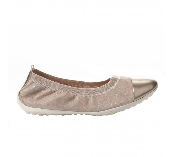 check-out b7df9 1fef2 Ballerines Geox dore fille - J62B0B - 61490