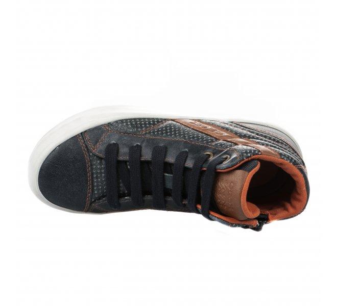 Chaussures à lacets garçon - GEOX - Bleu marine