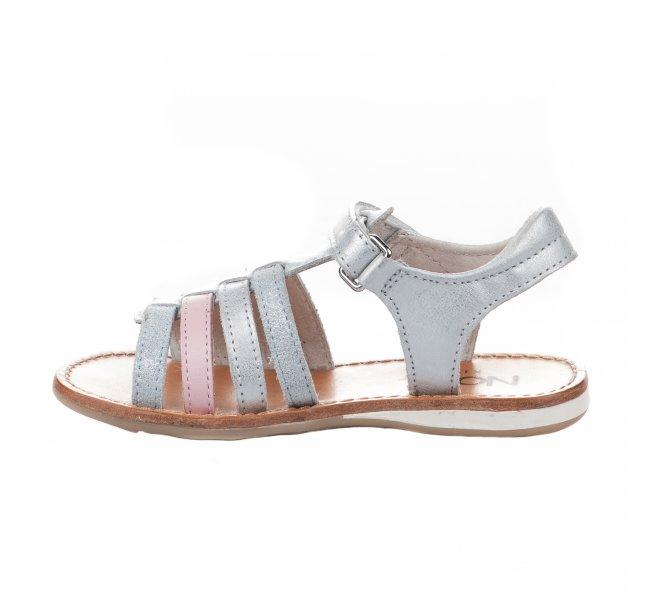 Nu-pieds fille - NOEL - Gris argent