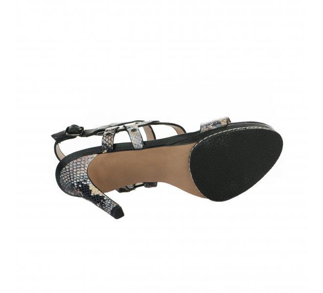 Nu pieds femme - DI LAURO - Noir
