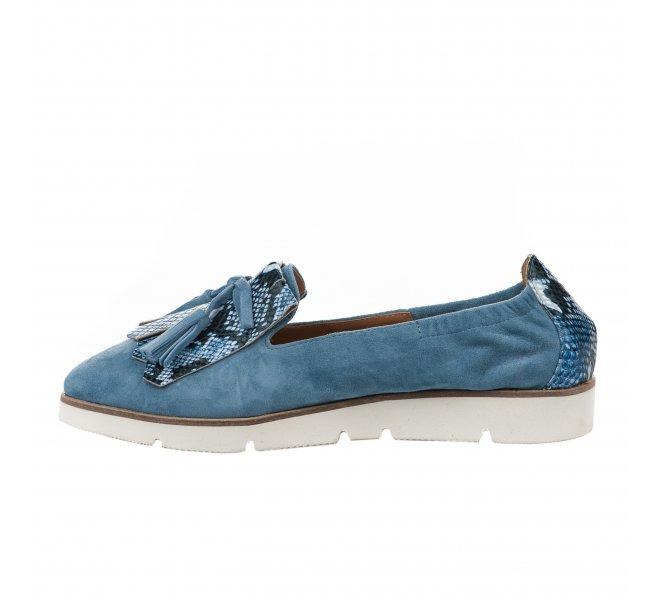 Mocassins femme - DI LAURO - Bleu