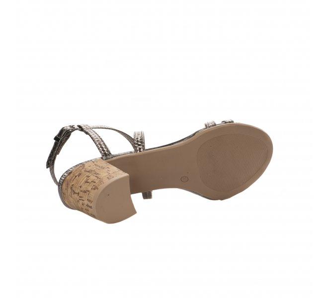 Nu pieds femme - MIGLIO - Gris plomb
