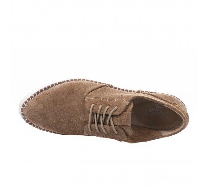 Chaussures à lacets femme - MIGLIO - Marron clair