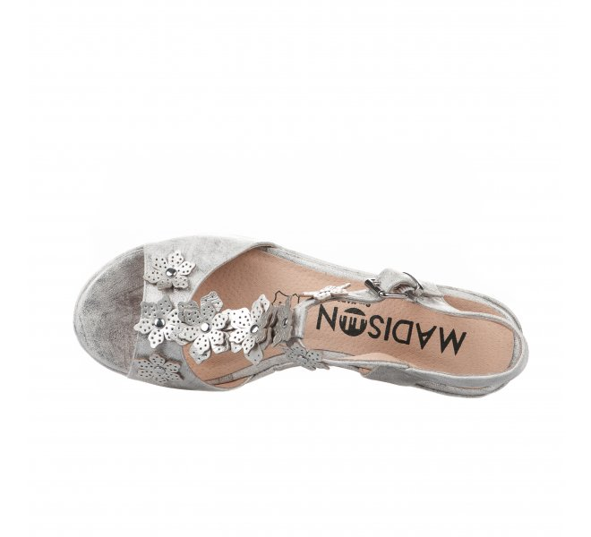 Nu pieds femme - MADISON - Gris argent