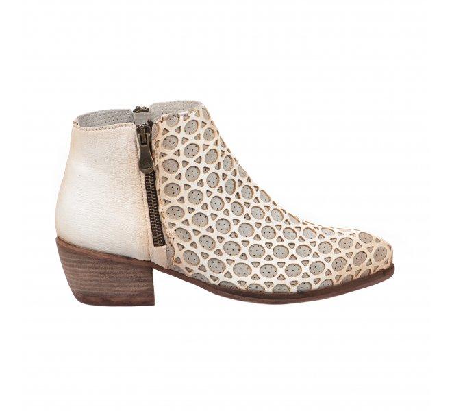 Boots femme - KANNA - Blanc creme