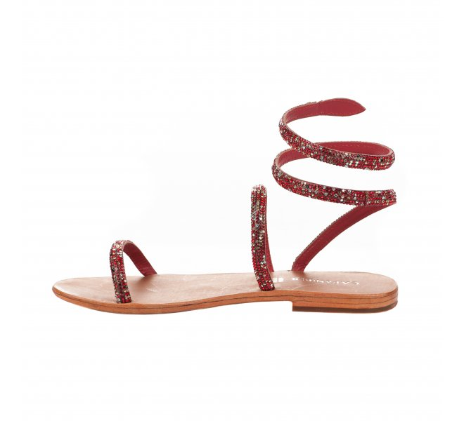 Nu pieds femme - CAFE NOIR - Rouge