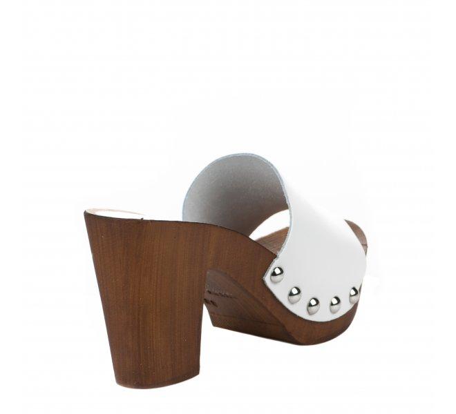 Mules femme - CAFE NOIR - Blanc