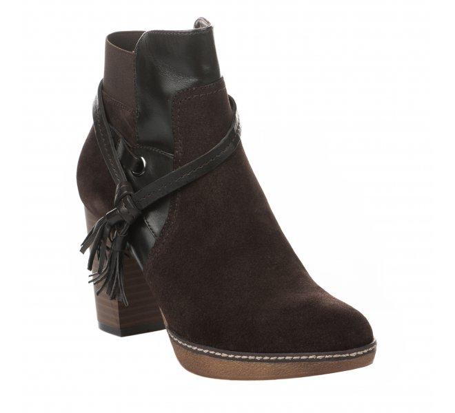 Boots femme - REGARDE LE CIEL - Marron