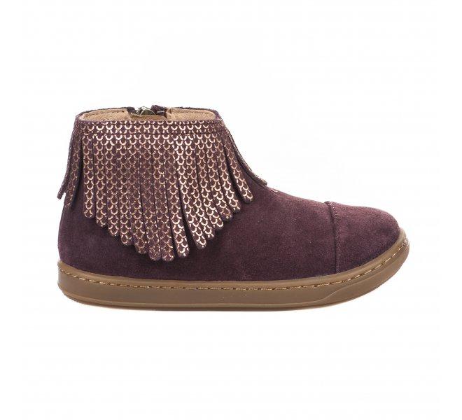 prix de liquidation ordre de style élégant Boots fille - SHOO POM - Violet prune
