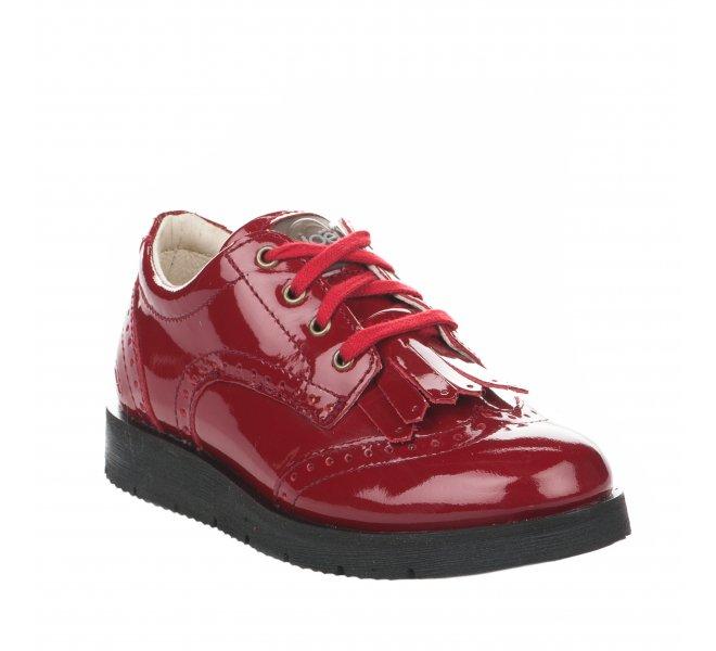 Chaussures à lacets fille - NOEL - Rouge vernis