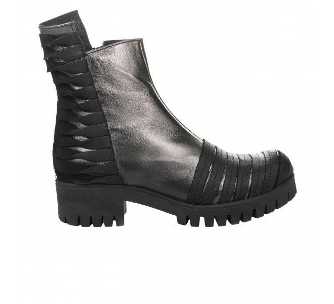 Boots femme - PAPUCEI - Noir