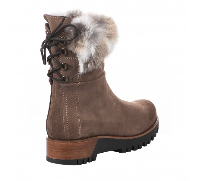 Boots femme - MANAS - Taupe