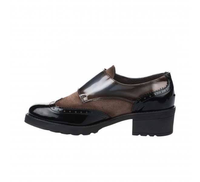 Chaussures à lacets femme - CHACAL - Marron