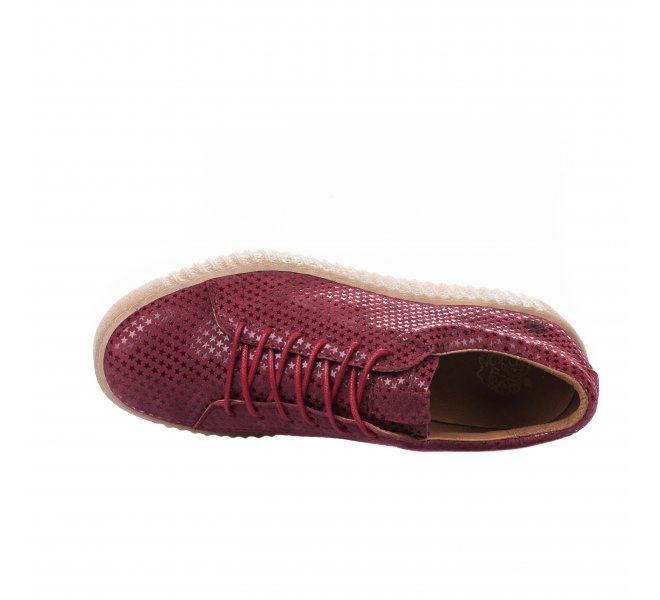 Baskets mode femme - APPLE OF EDEN - Rouge bordeaux