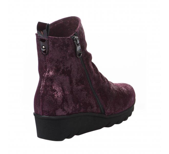 Chaussures de confort femme - PAULA URBAN - Rouge bordeaux
