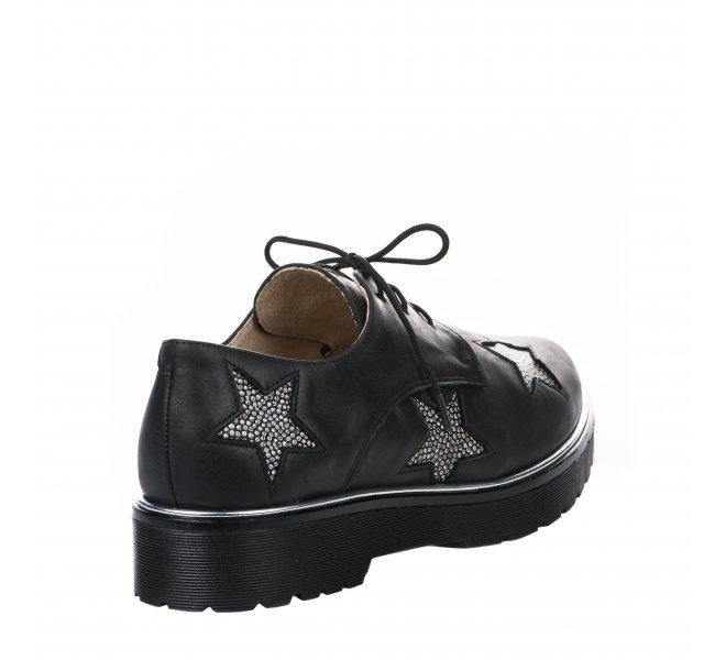 Chaussures à lacets femme - HDC - Noir