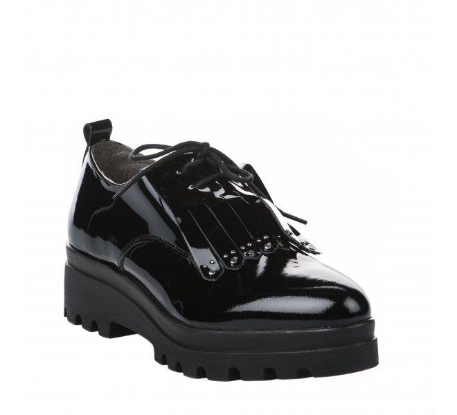 Chaussures à lacets femme - MIGLIO - Noir verni