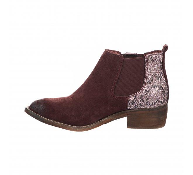 Boots femme - REPUBLYKA - Rouge bordeaux