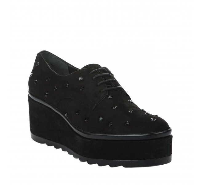 Chaussures à lacets femme - JHAY - Noir