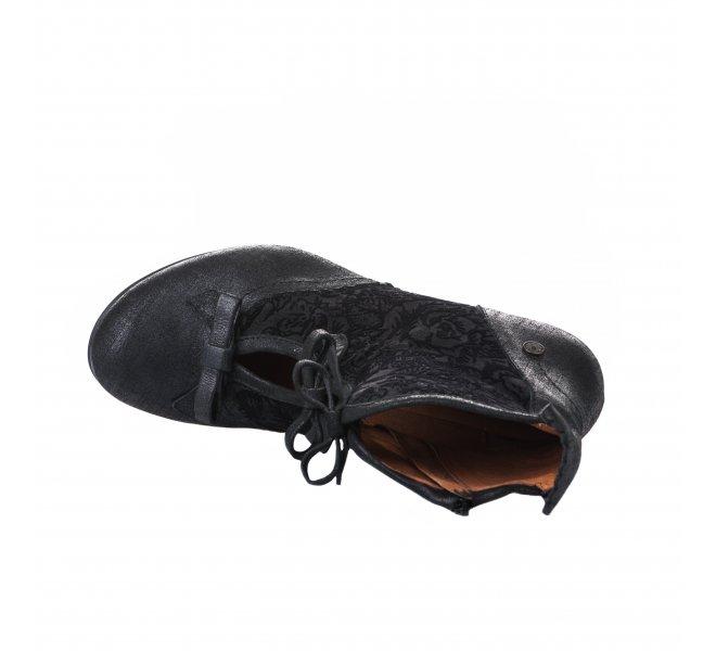 Boots femme - GOLD BUTTON - Bleu marine