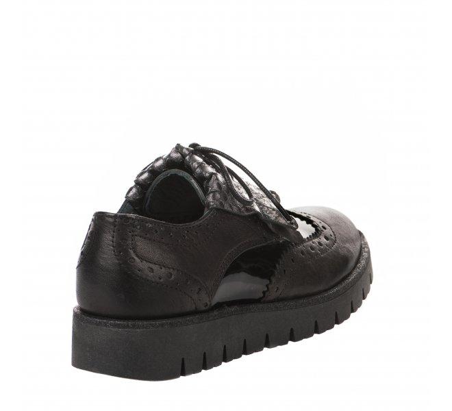 Chaussures à lacets fille - B&CO - Noir
