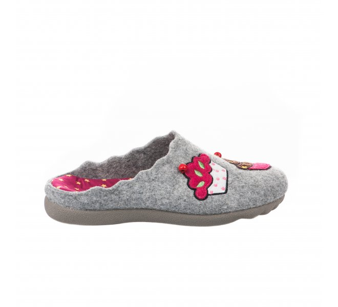 Pantoufles femme - HDC - Gris
