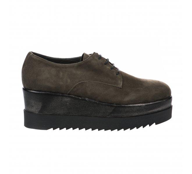 Chaussures à lacets femme - MIGLIO - Kaki