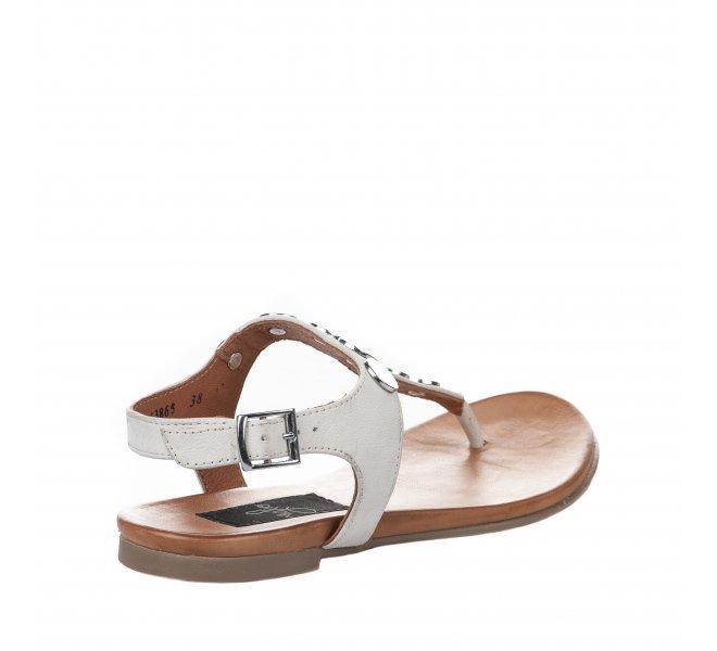 Nu pieds femme - MIGLIO - Blanc casse