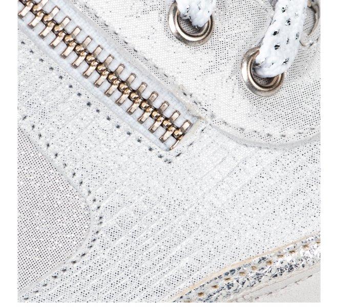 Chaussures de confort femme - GEO REINO - Blanc argent
