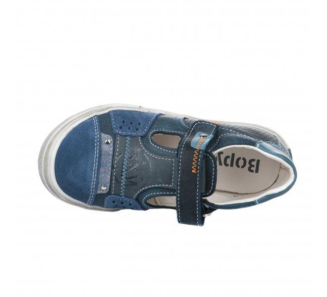 Chaussures à lacets garçon - BOPY - Bleu