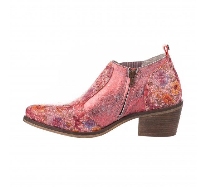 Boots femme - DKODE - Rouge