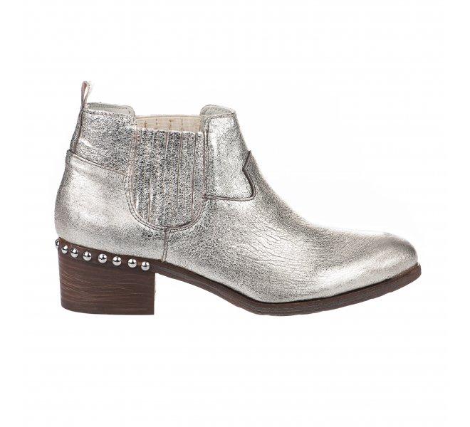 Boots femme - MIGLIO - Gris argent