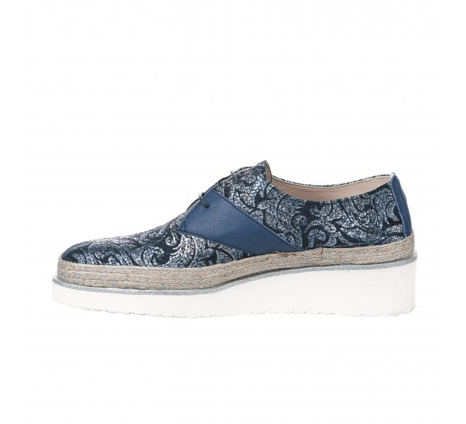 Chaussures à lacets femme - ANGEL INFANTES - Bleu marine