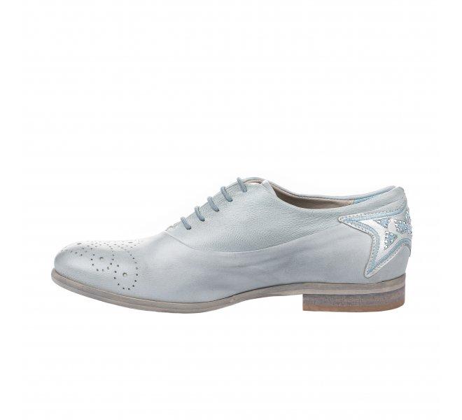 Chaussures à lacets femme - MIGLIO - Gris bleu