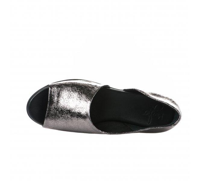 Nu pieds femme - MIGLIO - Gris argent