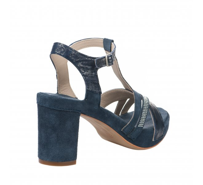 Nu pieds femme - KHRIO - Bleu marine