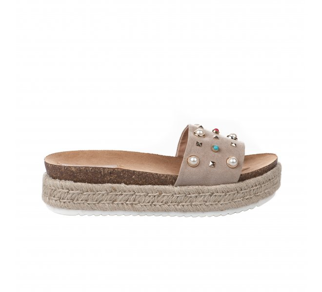 Mules femme - MTNG - Taupe